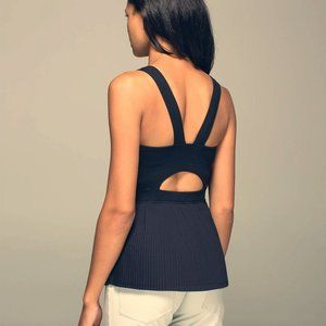 Lululemon Black City Tank Top Attached Bra 6